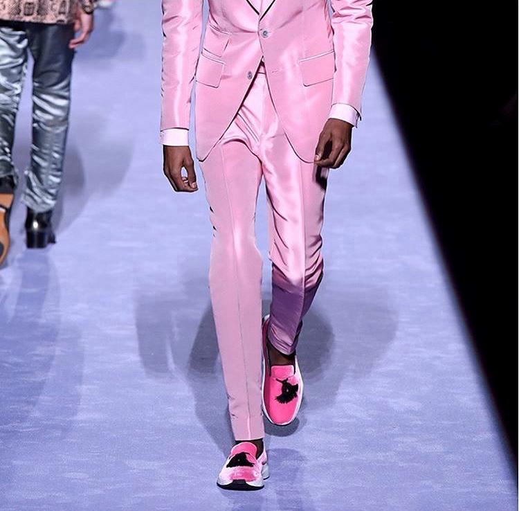New York Fashion Week Tom Ford Mens AW18 assisting Mei Kawajiri