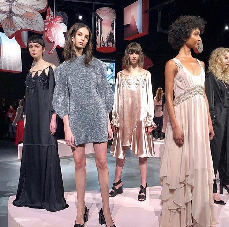 New York Fashion Week BCBG AW18 assisting Naomi Gonzalez