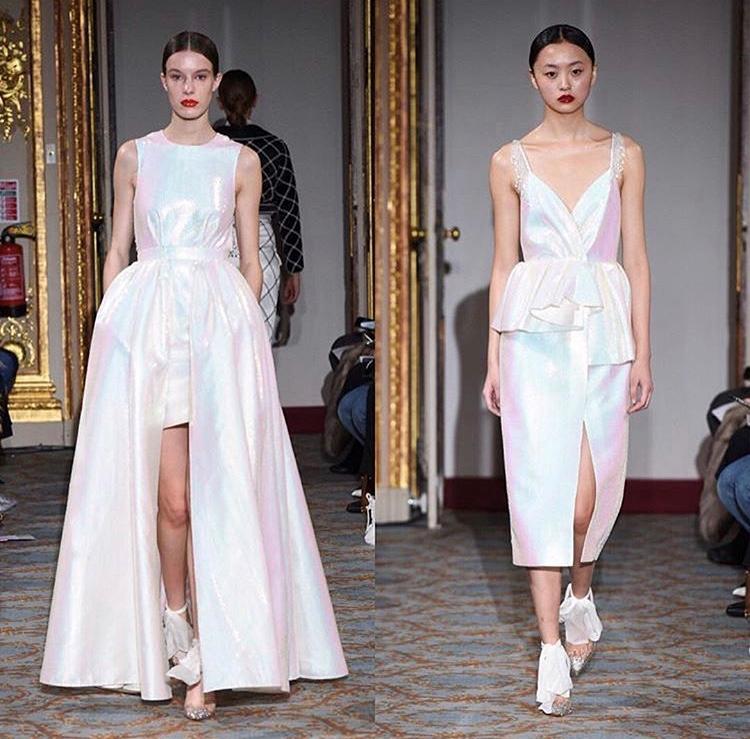 London Fashion Week Huishan Zhang AW18 assisting Michelle Class