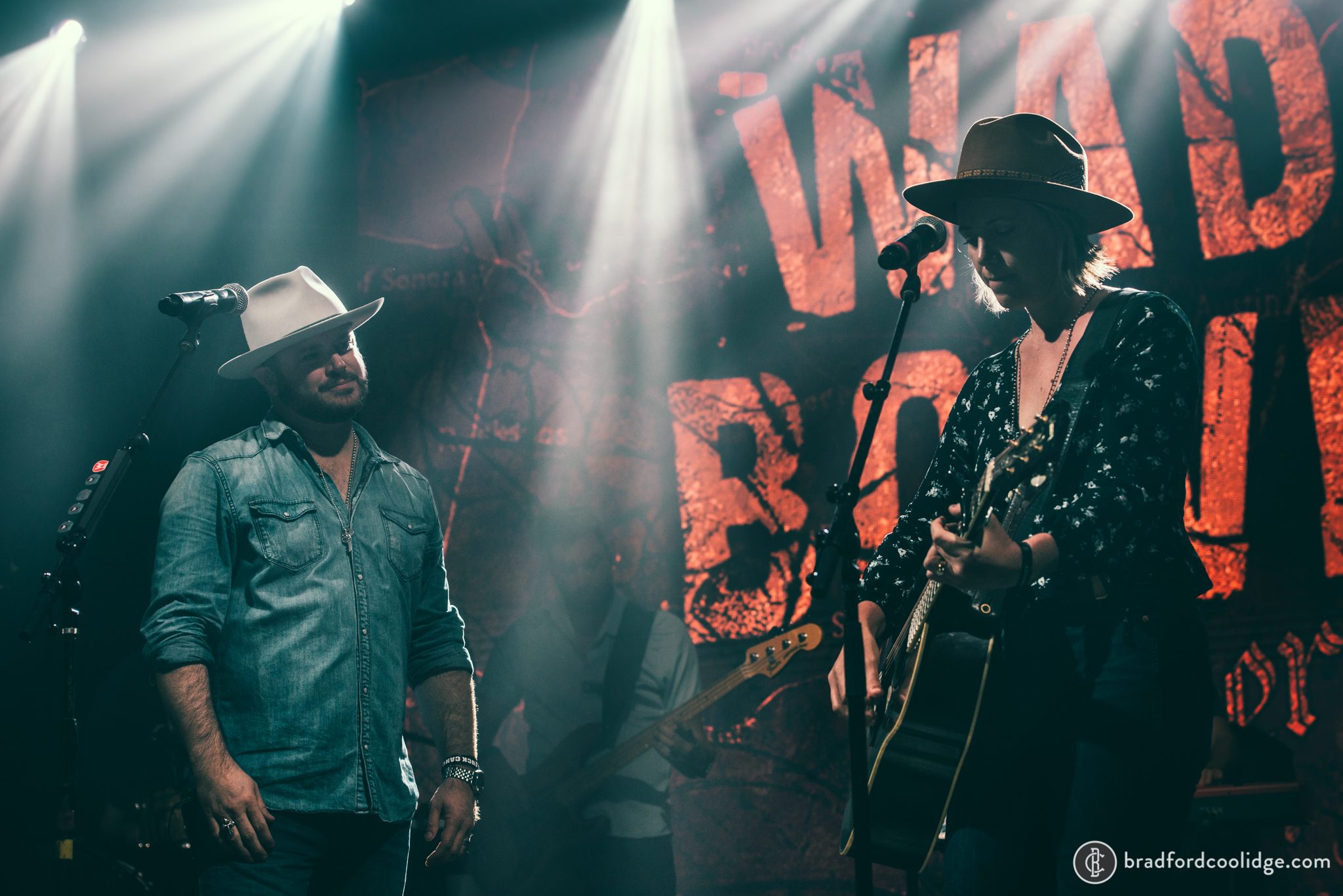 Wade Bowen and Jamie Lin Wilson, Mile O Fest 2019.