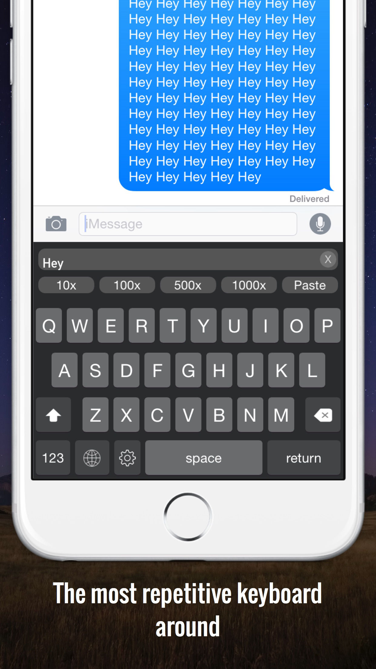 Technology - RepeaterBoard was created natively for iOS in Swift. It was built on top of an open source implementation of Apple's own keyboard. From this I added extra buttons and functionality to allow insertion of repeated messages.