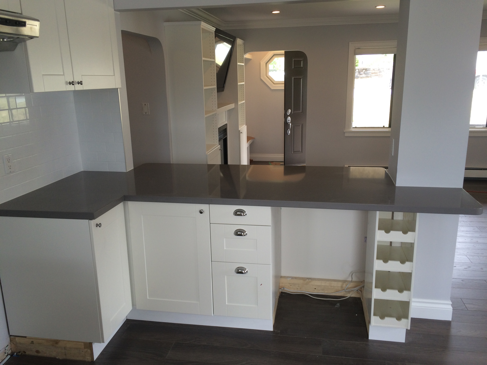 Reece Residence- Summer 2016 - Wall removal + beam installation = wide open new kitchen