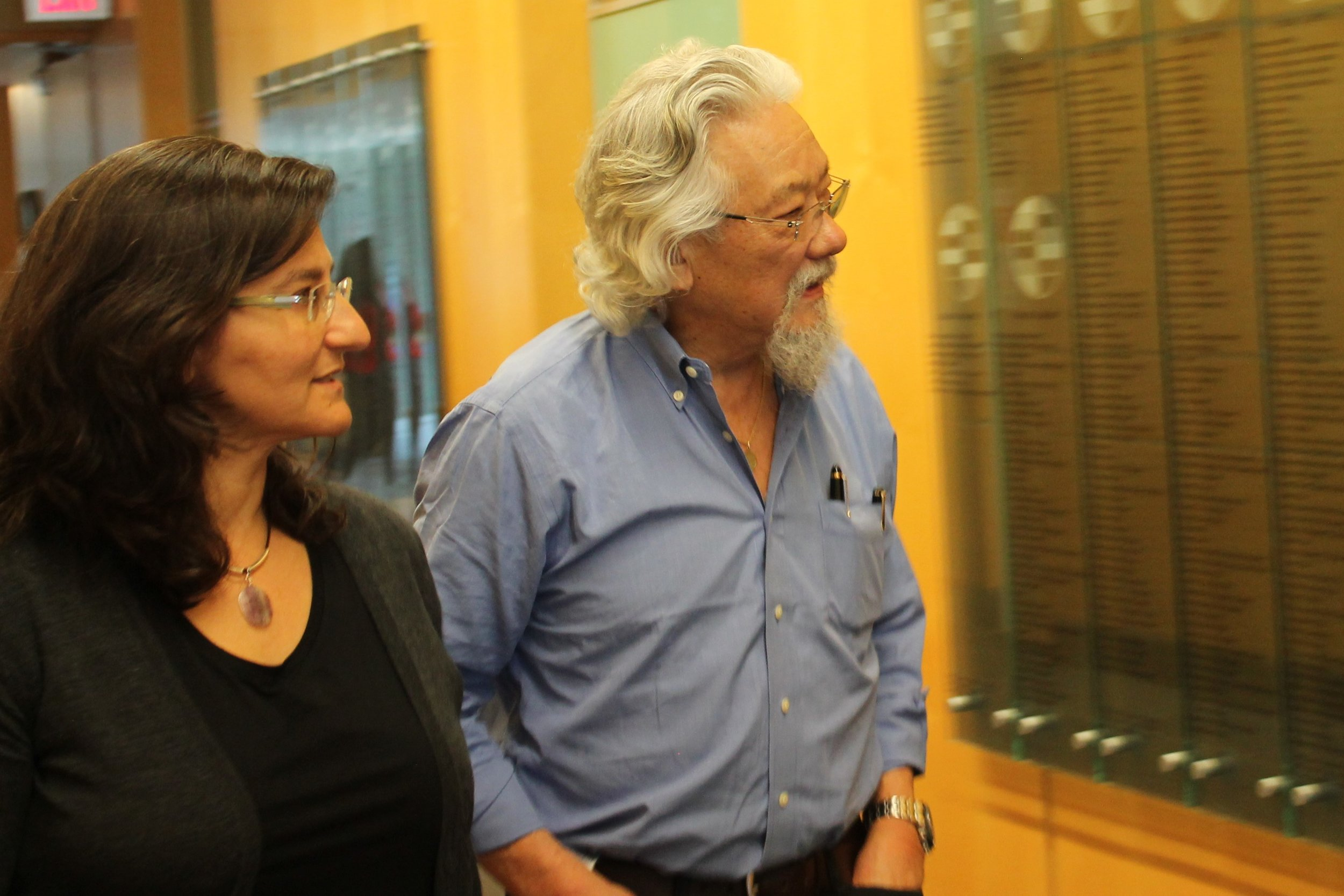 Dr. Laskin and David Suzuki go to POG meeting.jpg