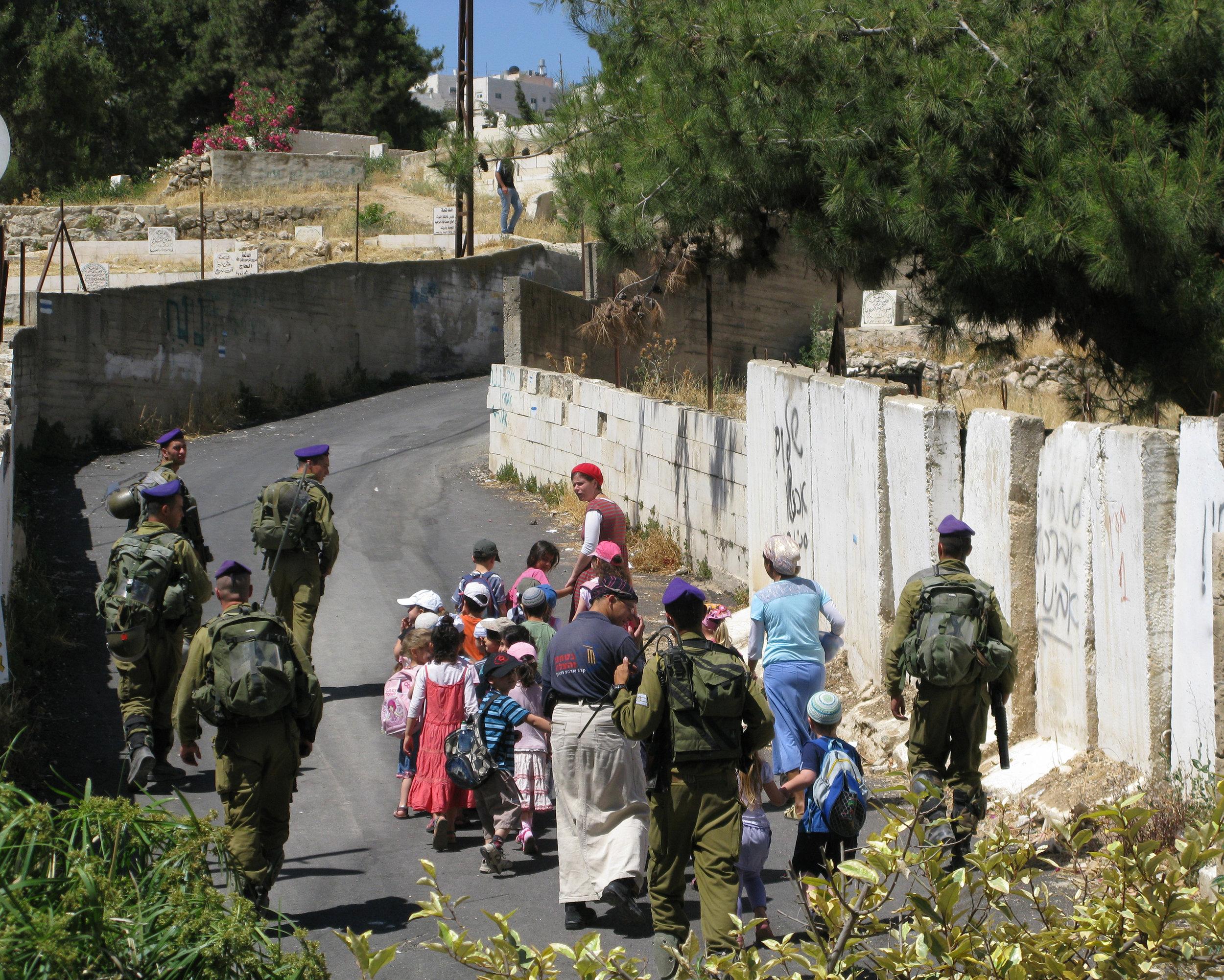 Settlres' children in Hebron.jpg