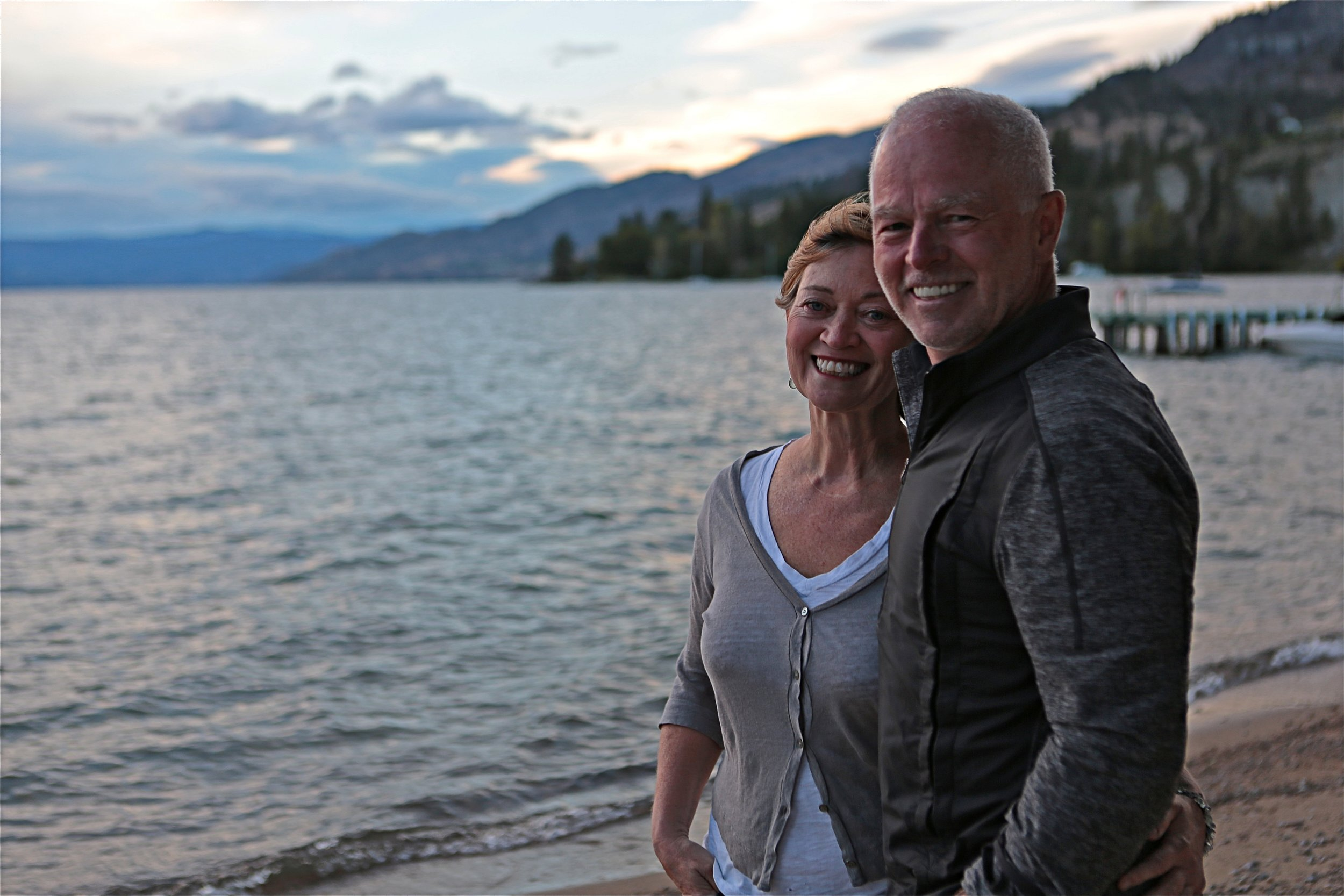 2-Mike Pond and director Maureen Palmer, on Okanagan Lake.jpg