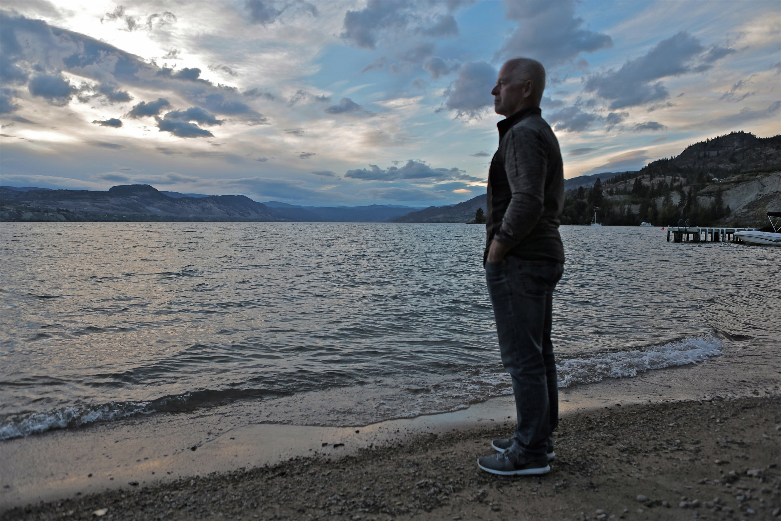 1-Mike Pond, standing on Okanagan Lake.jpg