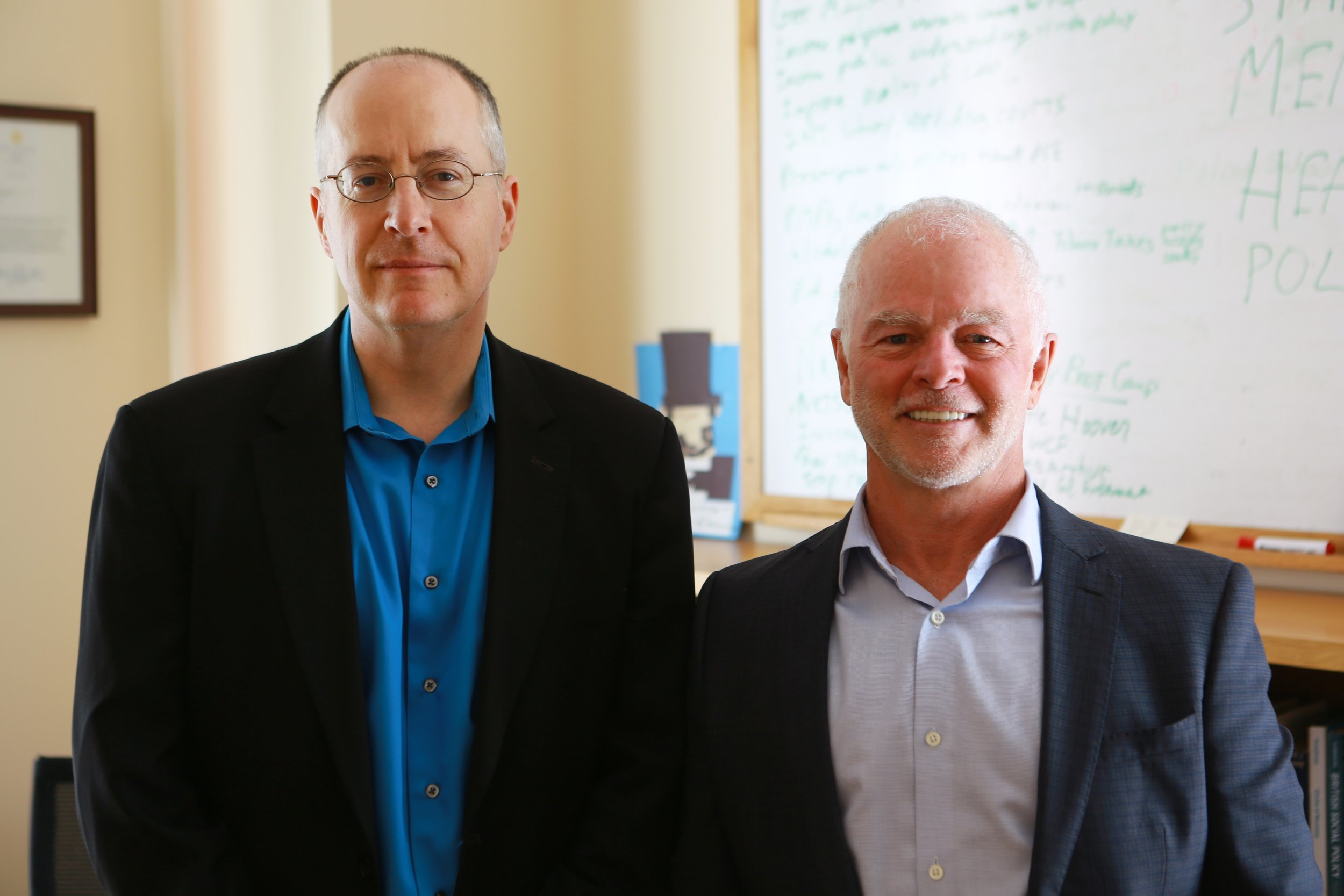 10-Mike Pond with Dr Keith Humphreys at Stanford University.jpg