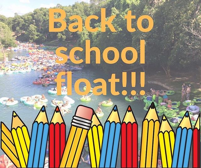 Who's coming to the back to school float on August 24th and August 25th???!!! 18 and under automatically receive 15% off and anyone with a college ID also gets 15% off!!! (minimum age is 5 years old)  It's back to school time lets get our feet wet once more and send off the summer with a splash!!! 😎🤙