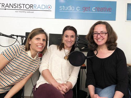 Pictured: hosts Laura Austin & Joelle Scillia with guest Julieanne Ehr
