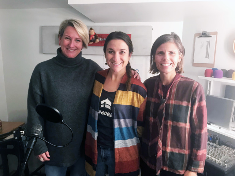 Amanda Norcross with Joelle and Laura