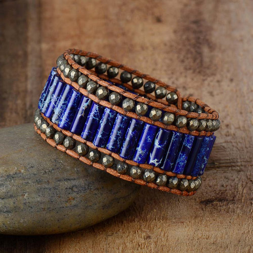 Voice of Magic Gemstone Cuff Bracelet - Throat Chakra Healing Jewelry —  Peaceful Island