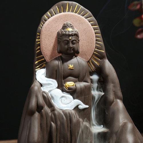 Gautama Buddha Hope Backflow Incense Burner — Peaceful Island