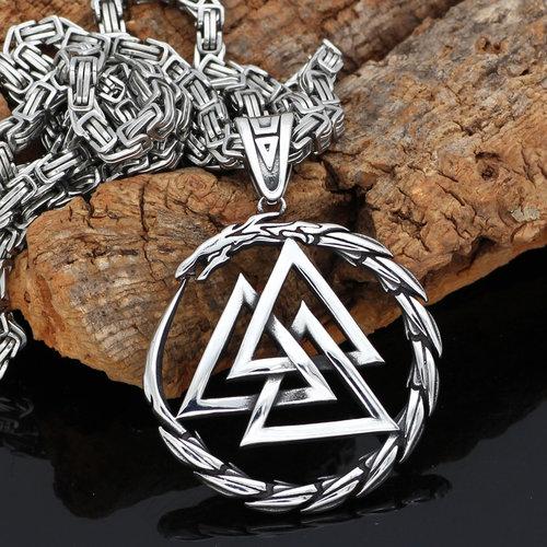Valknut Odin Talisman Men S Viking Necklace Peaceful Island