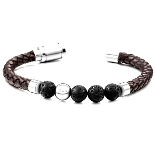 Best-mens-bracelet-healing-stones-Lava-stone-genuine-leather-stainless-steel-jewelry-for-men-red-brown-cool-authentic-leather-hand-made-peaceful-island-com.jpg