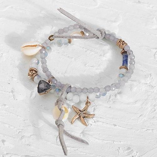 Ocean Treasures Layered Bohemian Beach Bracelet. ONLY $34.95