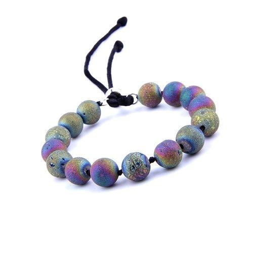 Rainbow Quartz Earth Stone Beads