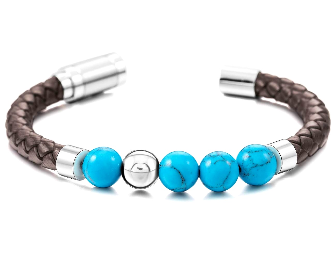 Best-mens-bracelet-healing-stones-ameriacan-turquoise-genuine-leather-stainless-steel-jewelry-for-men-red-brown-cool-peaceful-island-com.jpg
