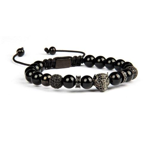 Bead Macrame Bracelet With Cz Diamonds