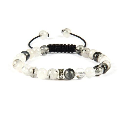 Spiritual Beaded Macrame Stone Bracelet - With Crystal Beads - For Men —  Peaceful Island