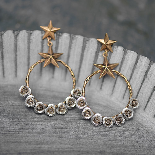 Starlight Rose Vintage Statement Earrings Peaceful Island