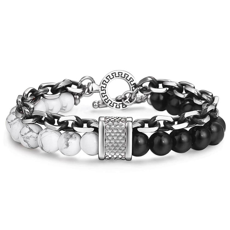 cool-mens-black-bead-stone-bracelets-black-beads-onyx-white-howlite-stainless-steel-closure-with-charm-cable-chain-peaceful-island-com.jpg