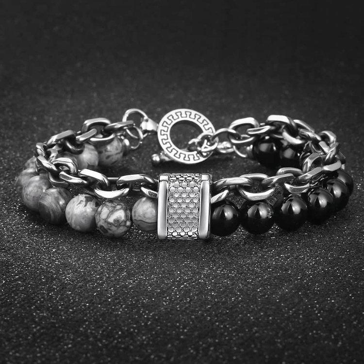 handmade-mens-semi-prescious-stone-bracelets-vintage-silver-black-gemstone-beaded-jewelry-with-meaning-for-guys-peaceful-island-com.jpg