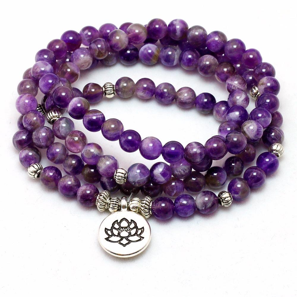 woman bracelet healing bracelet Tibetan amethyst bracelet mala bracelet amazonite bracelet azurite bracelet yoga bracelet protection