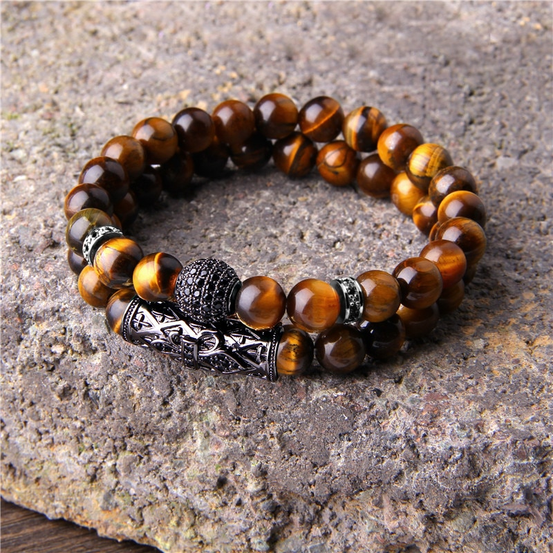 The Best Men's Bracelet You'll Ever Buy ✰ Men's Double Bracelet with  Crystals for Energy — Peaceful Island