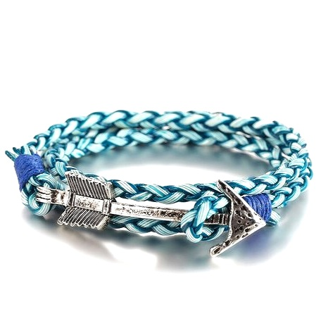 Bohemian Men's Arrow Leather Wrap Bracelet