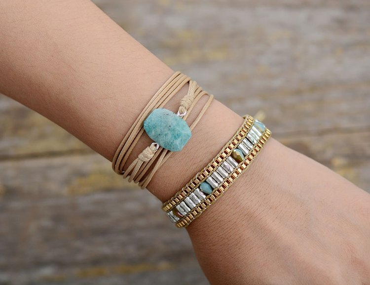 Lovely Earthstone Jewelry - Wrap Around Bracelet — Peaceful Island