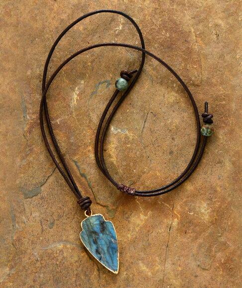 Labradorite Necklace Metaphysical Jewelry
