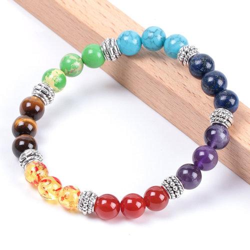 7 Chakra Bracelet Healing Stones