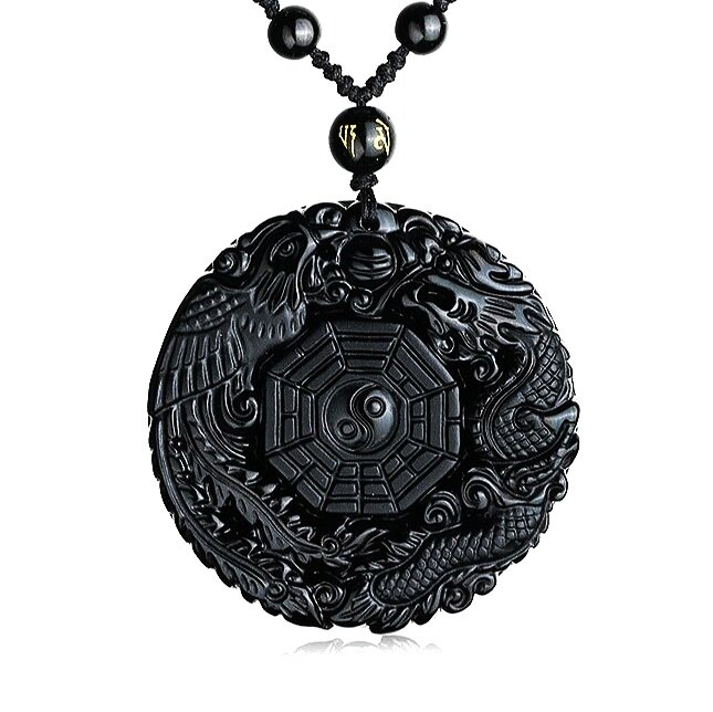 White Buddhas with Yin Yang Necklace