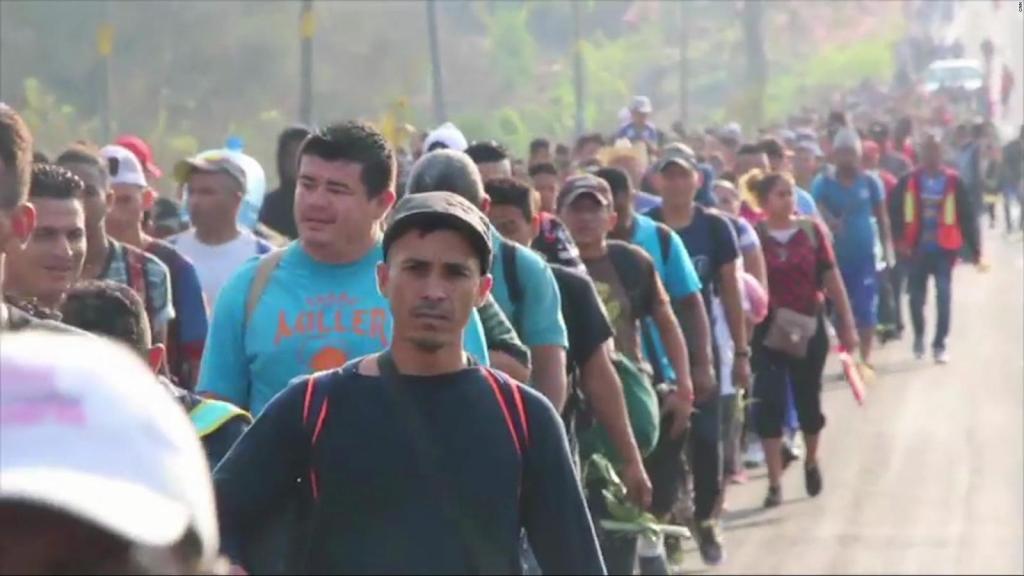 Economic Migrants travel to the United States through Mexico.