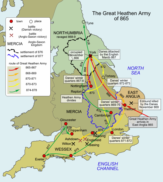 The Great Heathen Army  Wikicommons .
