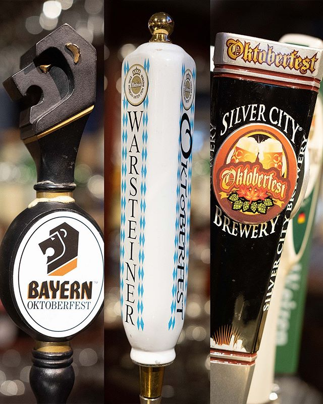OktoBEERfest is in full swing! Our current selection of Oktoberfest beers come to you from Germany @warsteinerusa Montana @bayernbrewing and Washington State @silvercitybrewery  Come in today, claim your OktoBEERfest cards, and start crushing those liters. There are still plenty more to come! 🍻 . . #shultzys #barandgrill #oktobeerfest #oktoberfest #theave #beer #bratspot #germanbeer #udistrict #denimchicken #taphandles