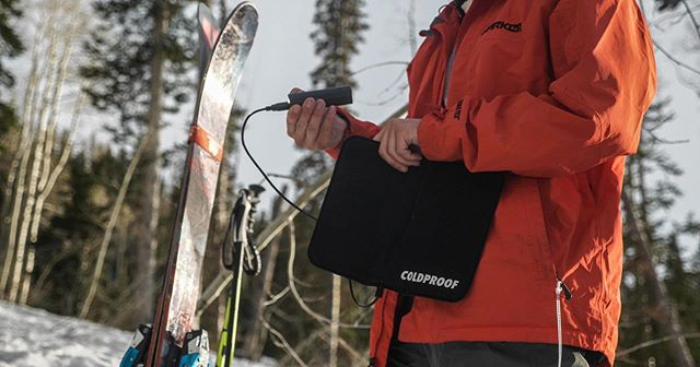 LAUNCHED. TODAY. KICKSTARTER. COLDPROOF This portable heating pad is available on the market!! Take it with you anywhere.