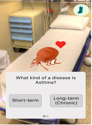 Asthma go - UX Design : A mobile application that uses Augmented Reality to inform kids about their asthma and how to manage it