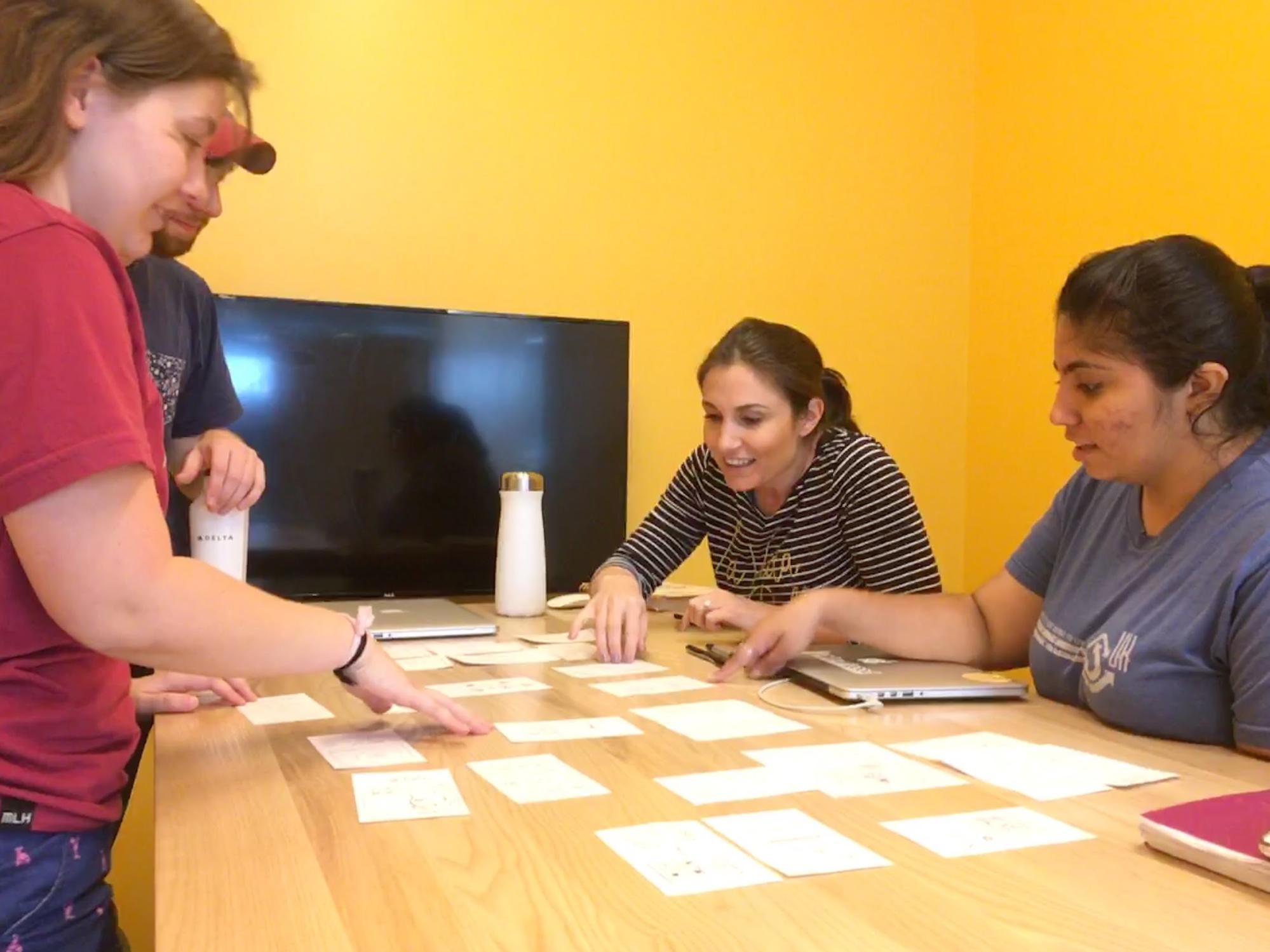 Our team sorting out design ideas