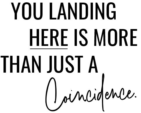 You Landing Here Is More Than Just a Coincidence