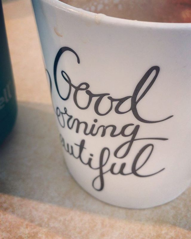 Good morning beautiful. This is one of my favourite ways to start the day. Peaceful, slow cup of coffee. What's your perfect morning routine? #coffeelover #5amclub #caffeineaddict #morningroutine #bulletproofcoffee