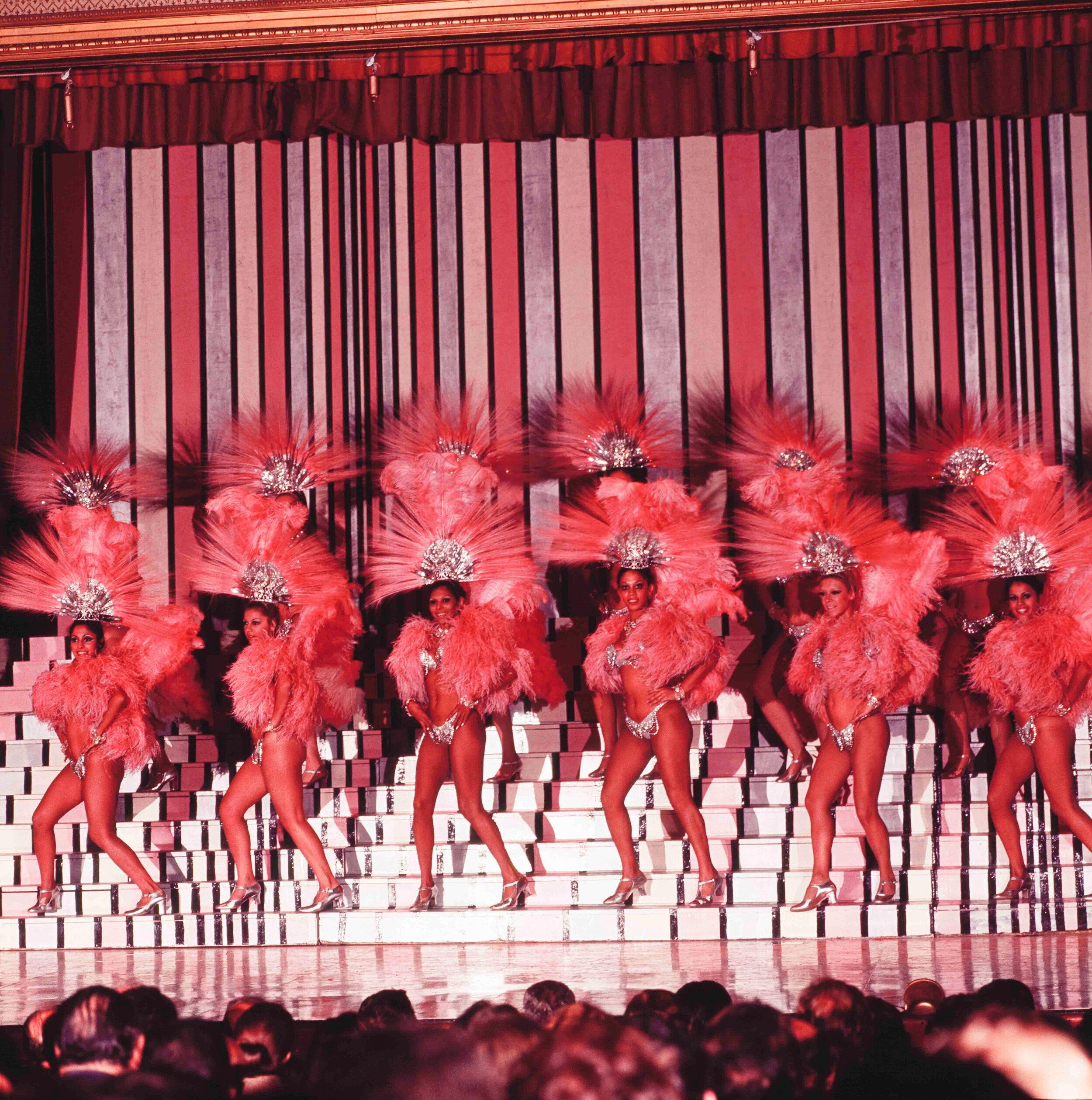 Argentine revue scene in the early 1970s - image from the Foto Estudio Luisita archive
