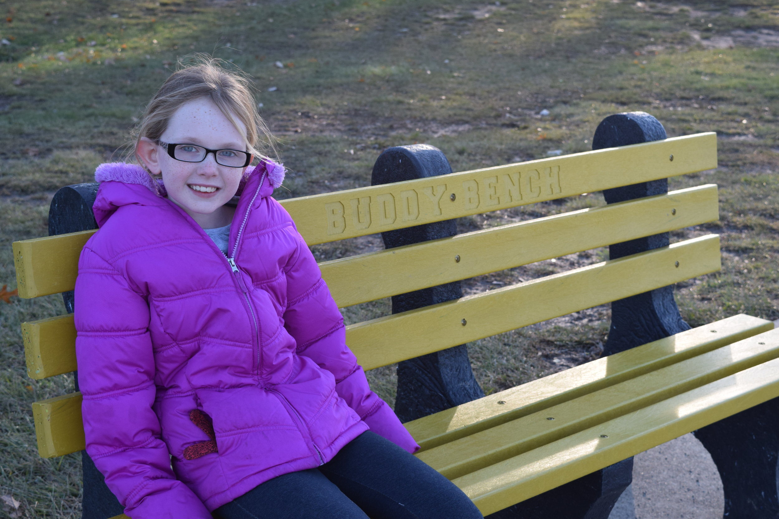 About - Find out about how Sammie heard about Buddy Benches and why she wanted them for her school.
