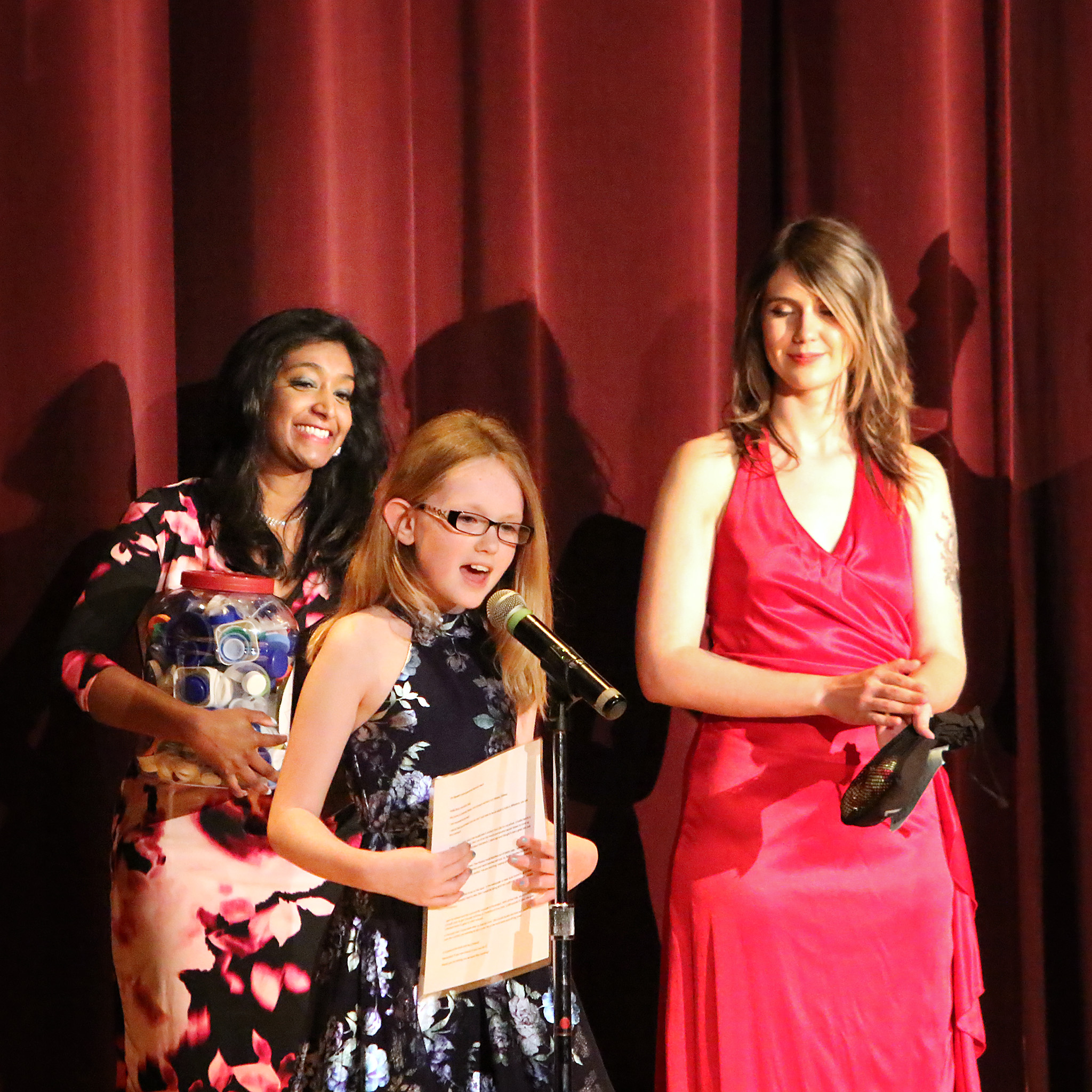 Giving my speech at the Embassy Theater after receiving my award! The lights were really bright
