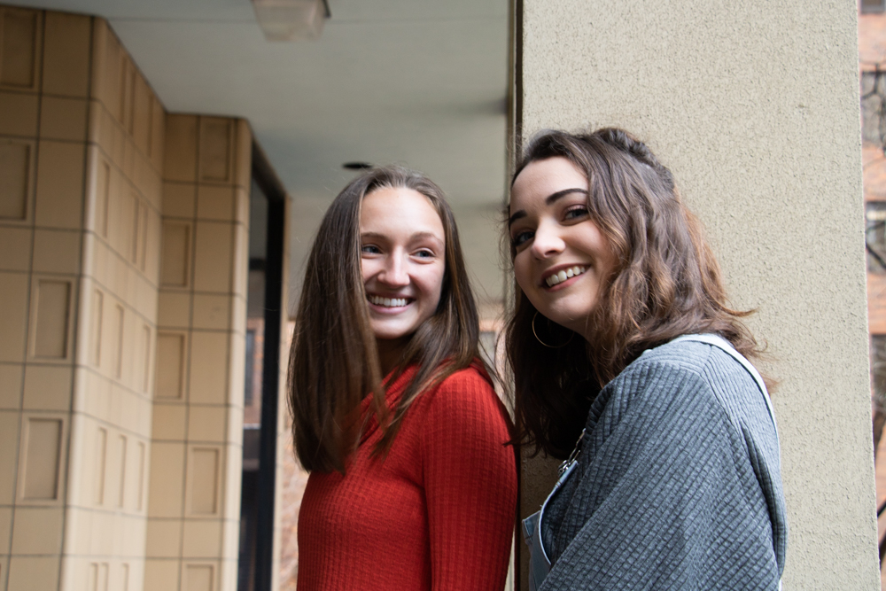Emma Borgstrom (left), a freshman kinesiology major, and Magdalena Becker, a junior journalism major, are both students in recovery from eating disorders. Borgstrom now co-runs a blog to help people with eating disordrs and their loved ones. | HANNAH PITTEL / REFINE MAGAZINE