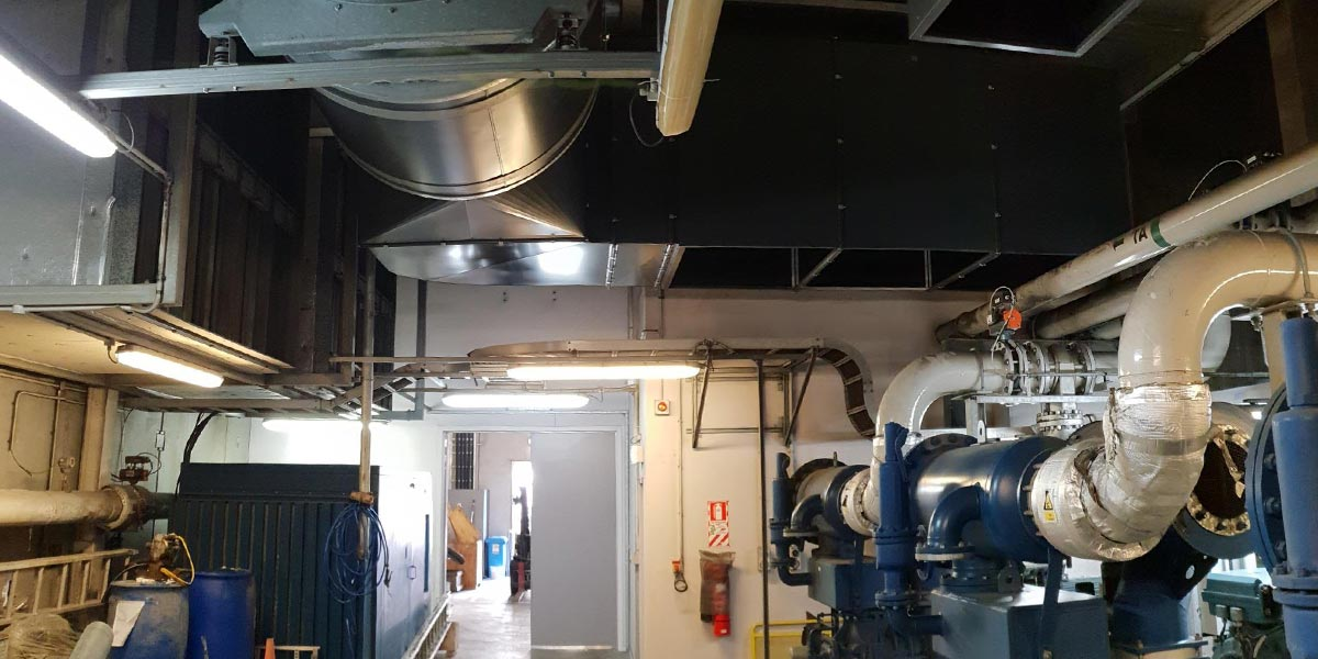 GOLDEN BAY CEMENT/WINSTONES - We replaced a critical plant and kept it running 24/7. Existing cement pump cooling ductwork and silencers had corroded away in a harsh marine environment. We were called in to redesign and install new treated ductwork, silencers, and plenums, while adhering to extensive Health and Safety requirements, and timing the work to ensure no operational shutdowns.