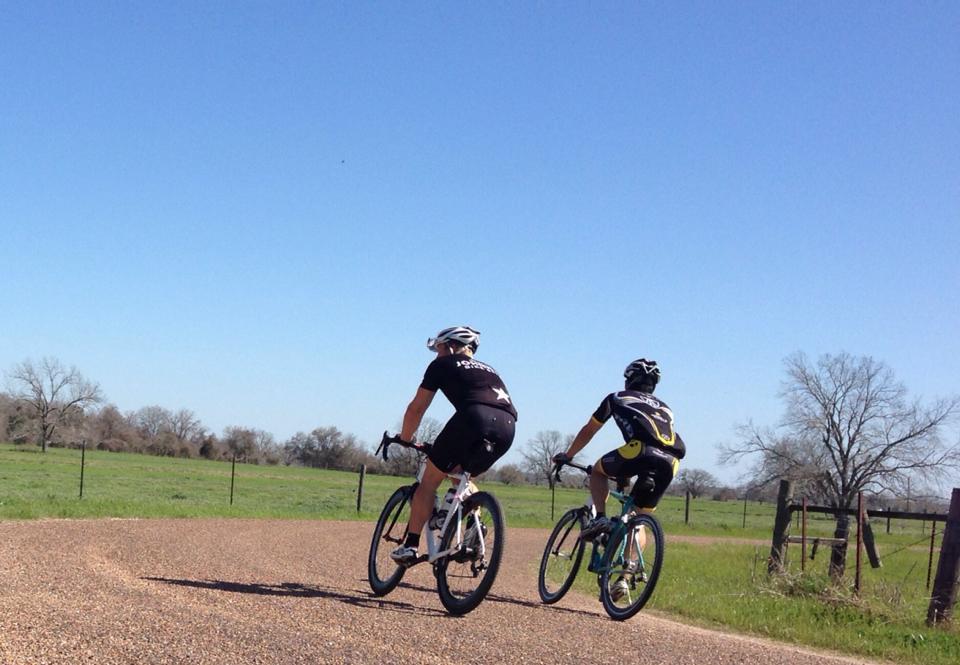 Heading for the gravel in Smihtville, Texas with longtime motocross/supercross training client Andrew Short. Photo credit: Glenn Kasin