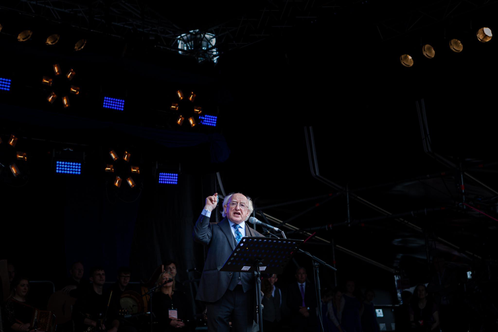 President of Ireland, Michael D Higgins.