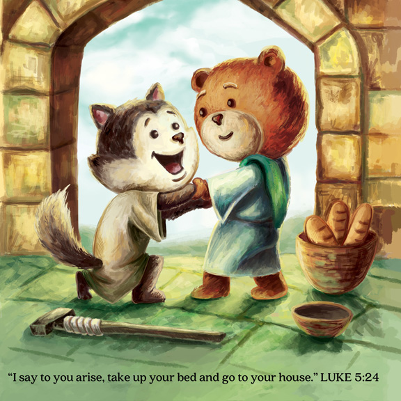 Along the way, your child will see Jesus's acts of love and compassion. -