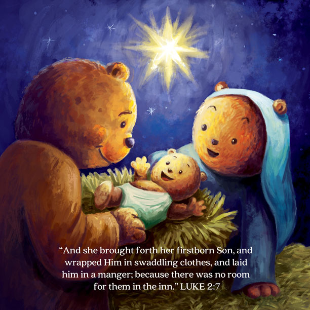 Jesus's story begins with his birth in the manger… -